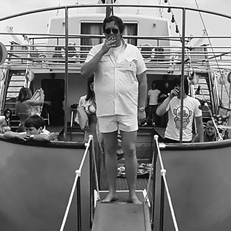 Hesketh on a Yacht